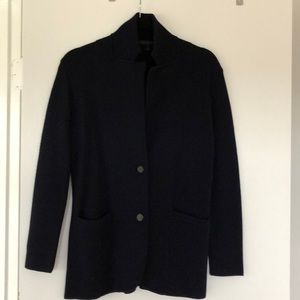 Navy Original Merino Wool J.Crew Sweater Blazer